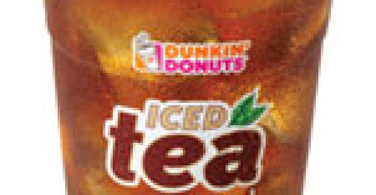 Dunkin' adds fresh-brewed iced tea