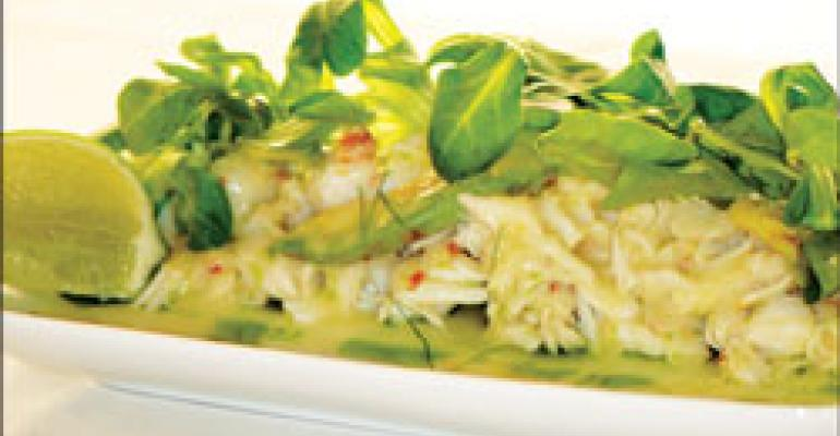 Dish of the Week: Crab-melon salad with ginger dressing