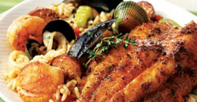 Dish of the Week: Sweet-and-spicy catfish over seafood jambalaya