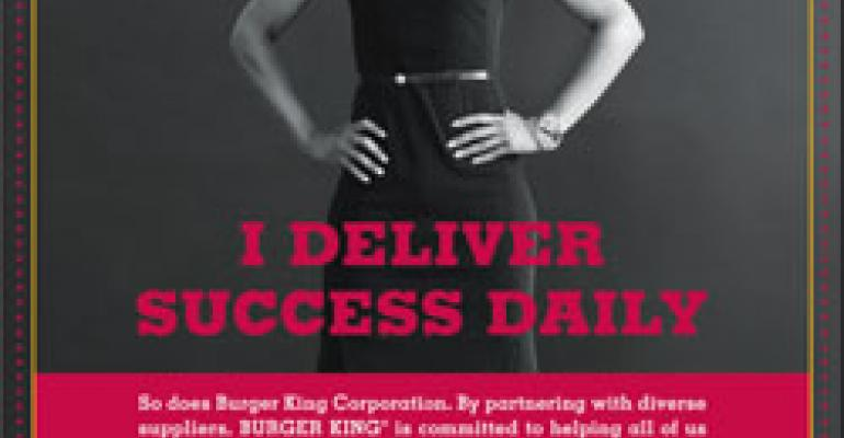 Burger King's ads target women and minorities in bid to recruit new suppliers and franchisees