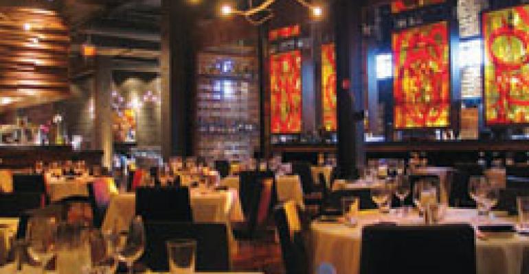Kevin Rathbun Steak's modern decor eschews the status quo