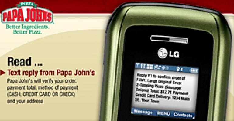 Papa John's boosts sales with text-message ordering
