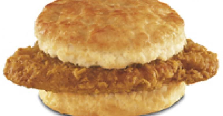 Hardee's proclaims chicken biscuit's superiority