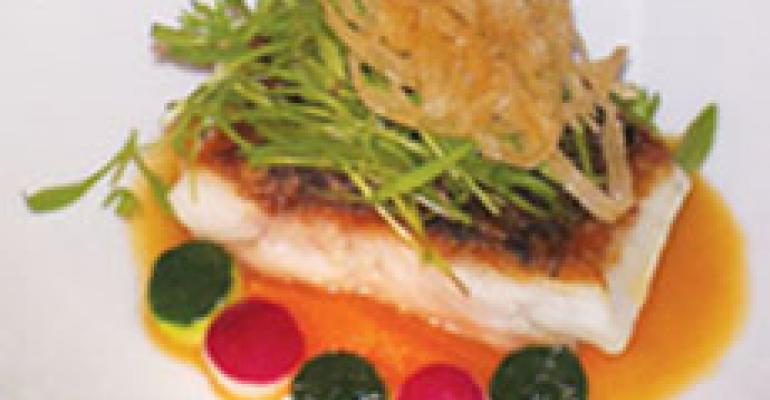 Dish of the Week: Tilapia with spring microgreens