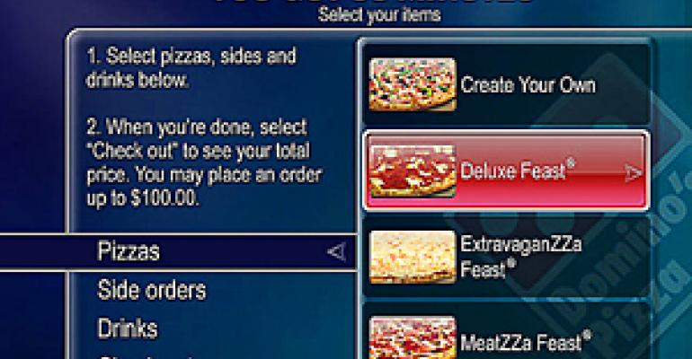 Domino's expands ordering options with TiVo deal