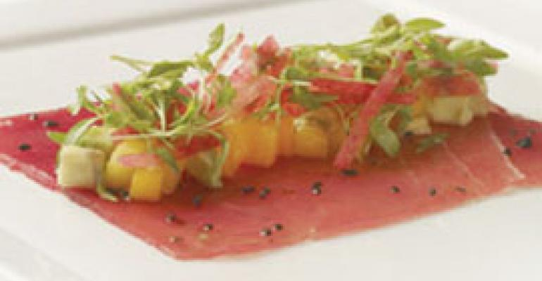 Dish of the Week: Yellowfin sashimi with yuzu vinaigrette
