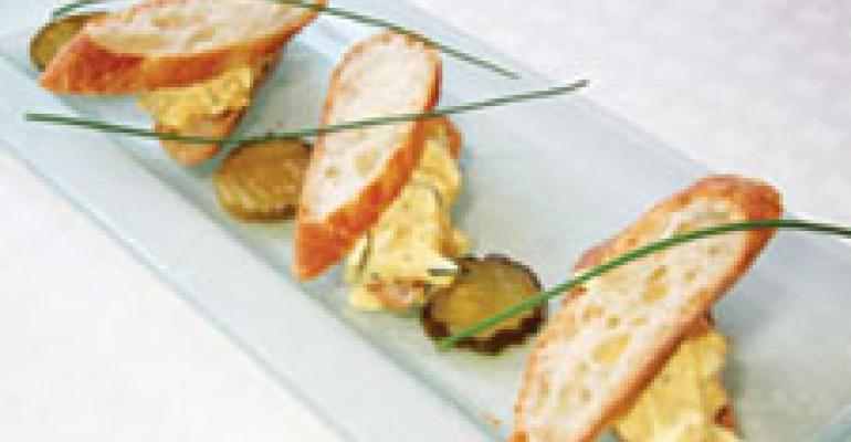 Dish of the Week: Pickled-pepper Deviled Egg Sandwich
