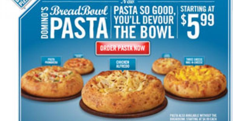 Domino's delivers new pastas