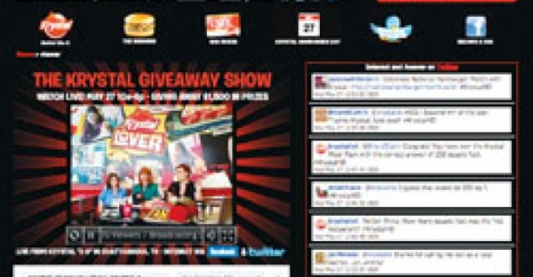 Krystal Giveaway Show keeps fans plugged in with social-media event