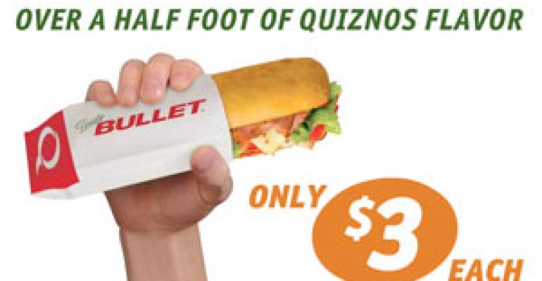 Quiznos' latest value weapon: $3 Bullet sub