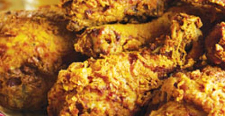 Chefs find fried chicken has legs