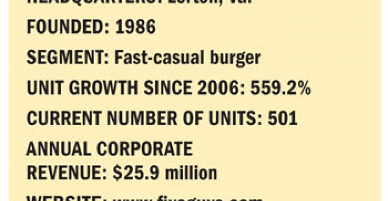 Fastest Growing Chains: No. 3 Five Guys Enterprises LLC