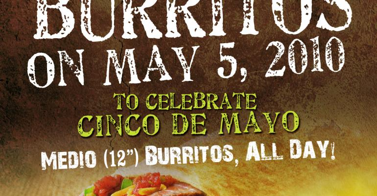 Mucho Burrito taps social media, sweepstakes for big Cinco de Mayo