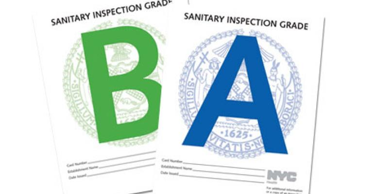 NYC restaurants get high marks in new letter-grading system