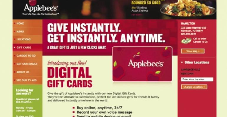 Virtual gift card trend opens more sales for chains