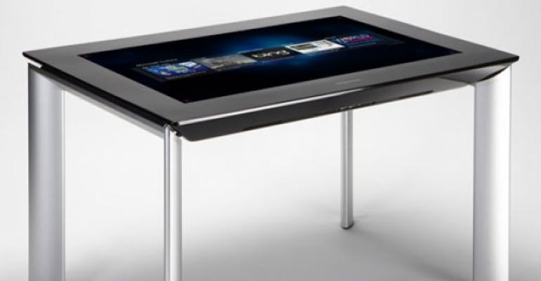 New tabletop technology showcased by Microsoft, Samsung
