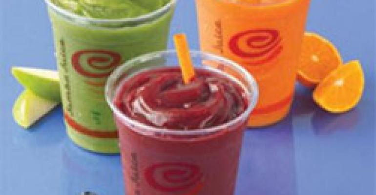 Jamba Juice debuts Fruit & Veggie Smoothies