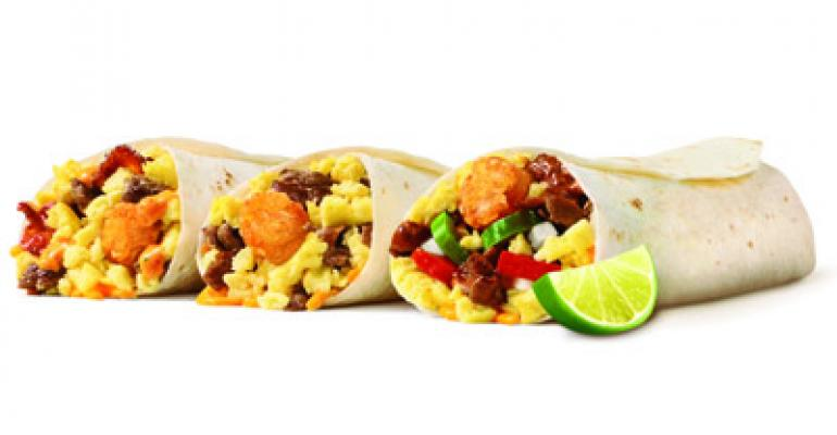 Sonic expands breakfast menu with new burritos