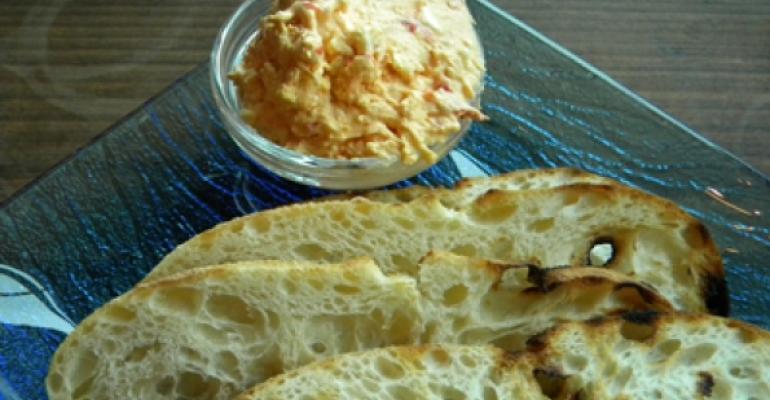 Mediterranean pimiento cheese