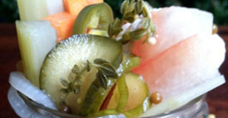Pickles pop on restaurant menus