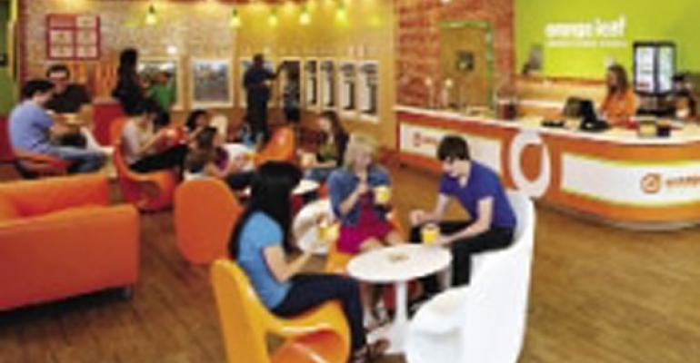 Orange Leaf interior