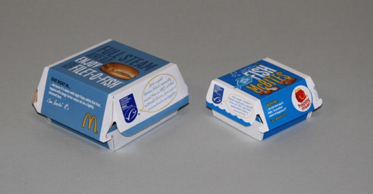 McDonalds is the first restaurant chain in the US to use the Marine Stewardship Councils blue ecolabel on all packaging