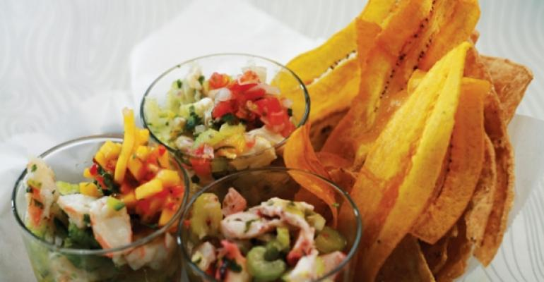 Tres Ceviches at Pure Taqueria
