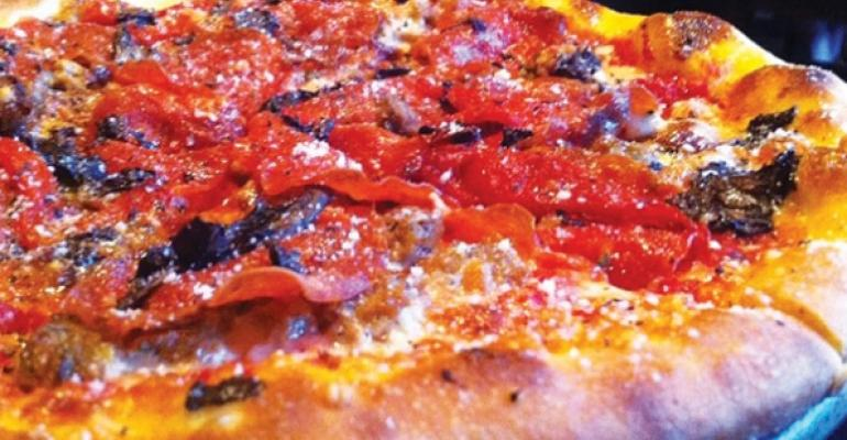 Handtossed pizza at Spin Neapolitan Pizza