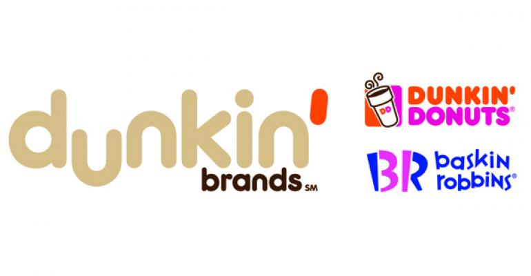 Dunkin' Brands tripled income in 4Q