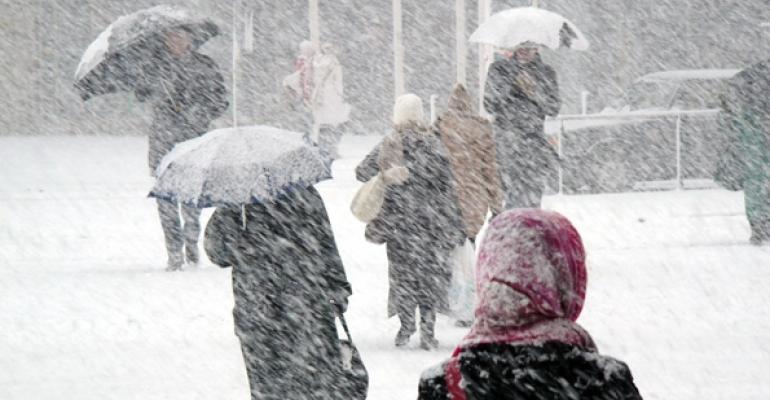 Snow storm stock