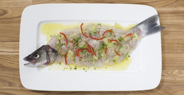 Whole fish ceviche