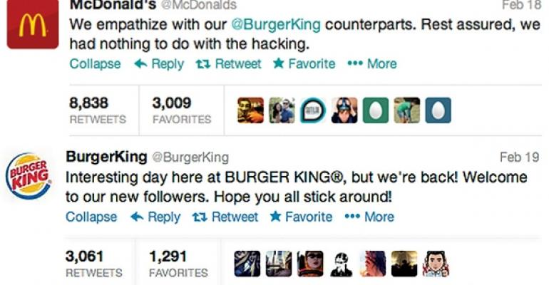 Burger King and McDonalds tweets