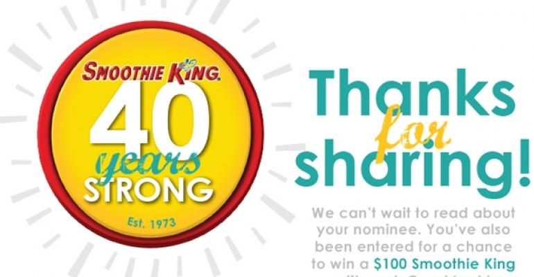 Smoothie Kings 40 Years Strong campaign