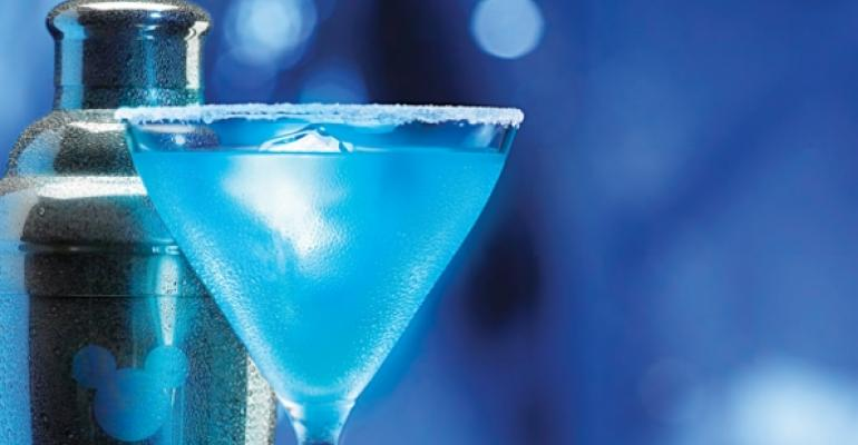 Blue Glowtini at Walt Disney Parks and Resorts