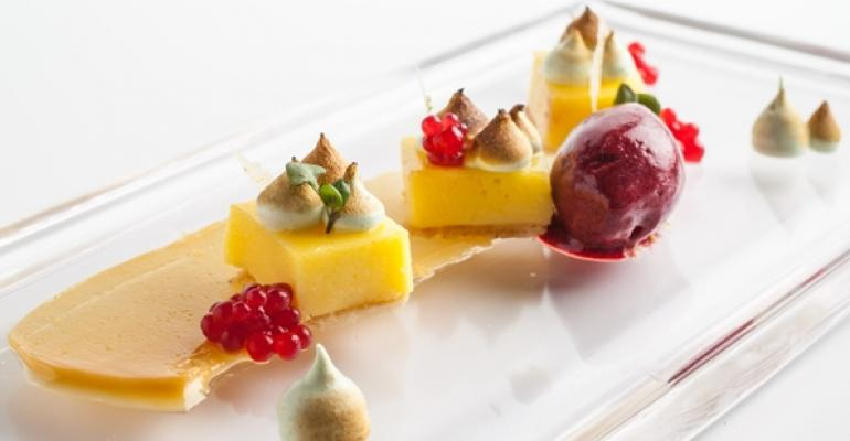 Pastry chef packs unusual flavors in compact menu