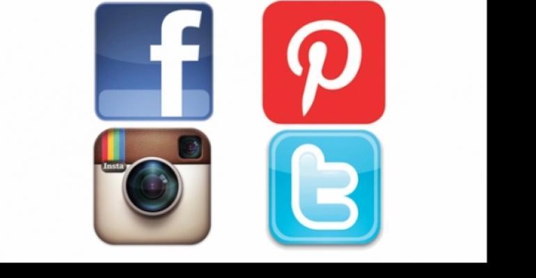 Facebook Pinterest Instagram Twitter icons