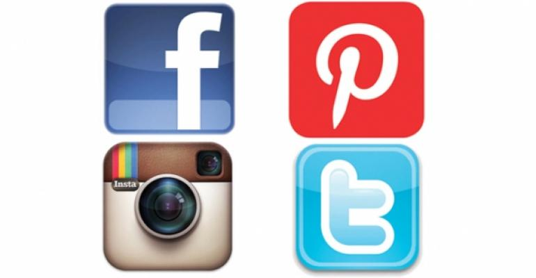 Facebook Pinterest Instagram Twitter icons
