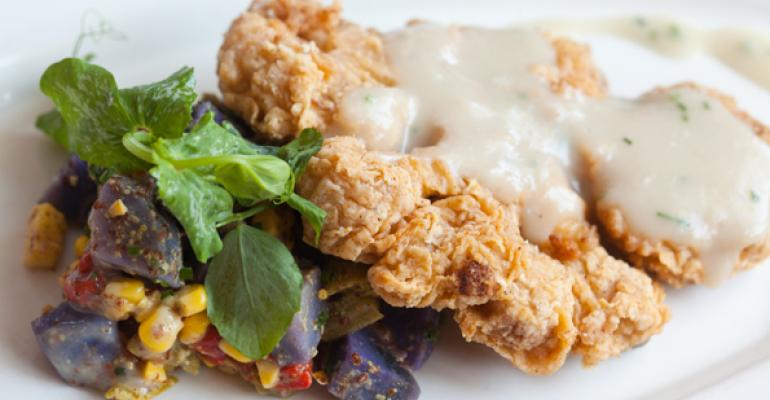 Chicken-fried 'Lot 42' cauliflower steak