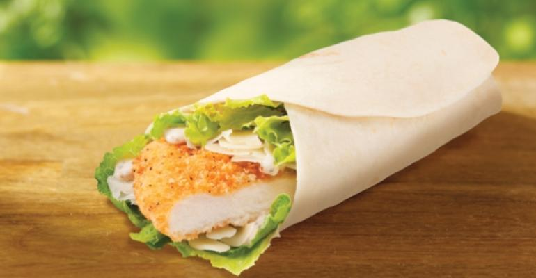 Wendys Crispy Chicken Caesar Wrap