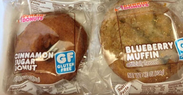 Dunkin Donuts plans to serve glutenfree Cinnamon Sugar Donuts and Blueberry Muffins systemwide by the end of the year