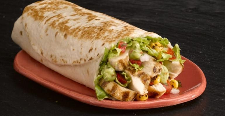Taco Bells Power Protein chicken burrito