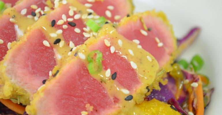 A tuna appetizer at Fresh to Order
