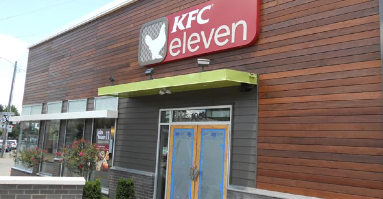 KFC elevens menu is built around boneless chicken