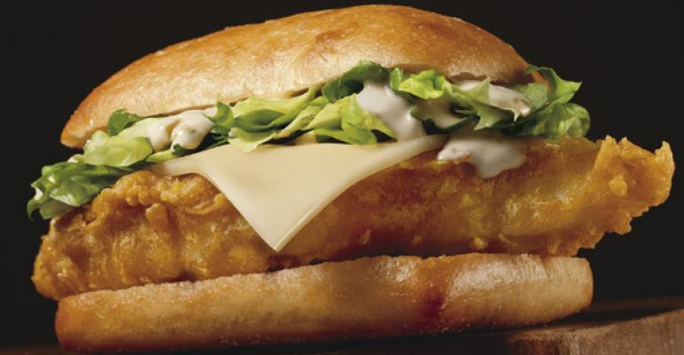 Long john silver 39 s rolls out ciabatta jack sandwich for Long john silvers fish