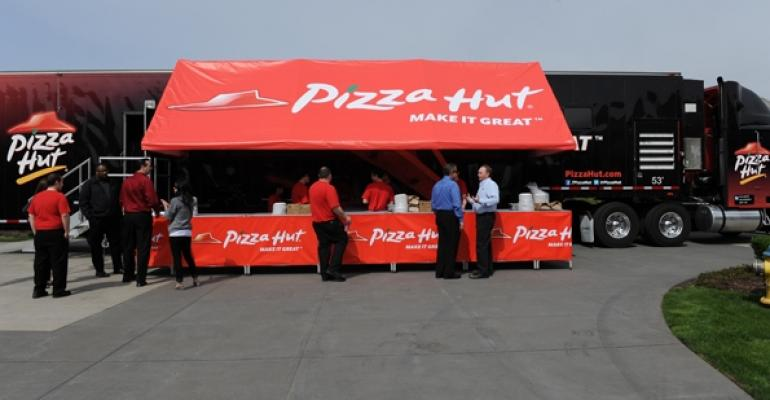 Pizza Hut Kitchen pizza hut plans times square free pizza party for nfl season