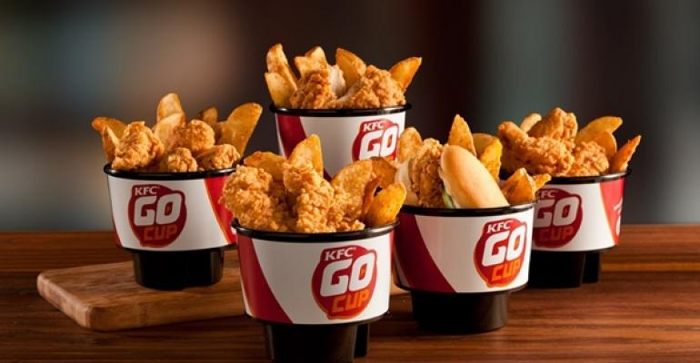 KFC launches Go Cup for snacking in cars