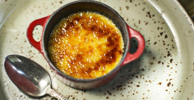 Pumpkin seed custard cup