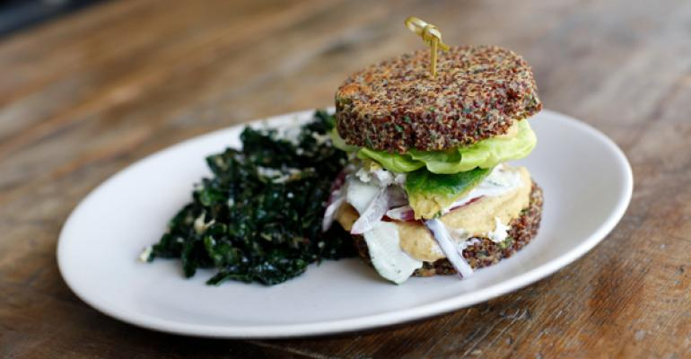 'Inside Out' Quinoa Burger