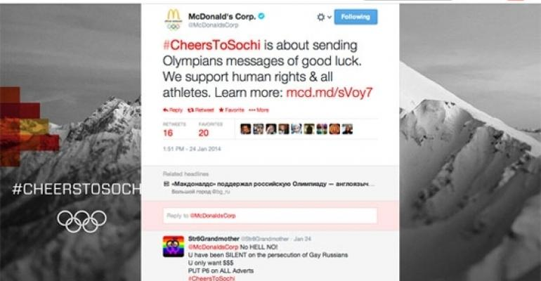 McDonald39s tweets using CheersToSochi
