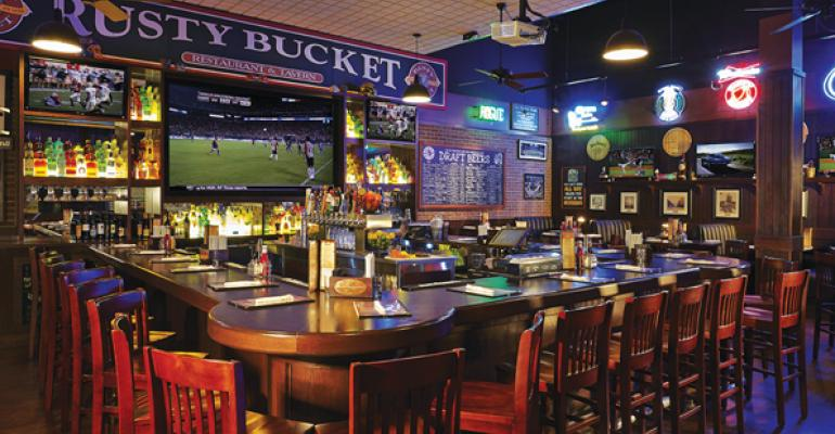 Rusty Bucket Restaurant and Tavern has a familyfriendly sports bar feel